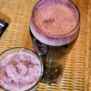 Ravens Purple Power Superbowl Smoothie and Beer.