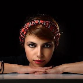 Katerina by Tasos Triantafyllou - People Portraits of Women ( portraiture, studio, color, woman, portrait )
