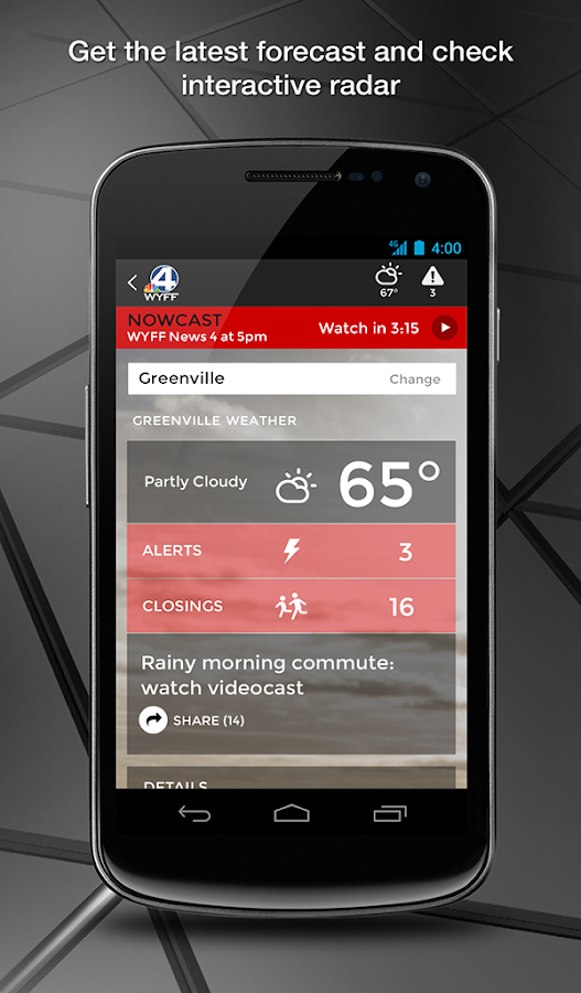 WYFF News 4 and weather- screenshot