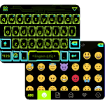 Neon Light Emoji Keyboard Skin Icon