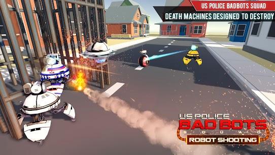 US Police Futuristic Robot Transform Shooting Game 4