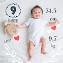 Baby Story Tracker Milestone Sticker Photo Editor icon