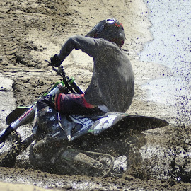 in the mud by Jean-Pierre Machet - Sports & Fitness Motorsports ( race, moto crosse, biker, sport )