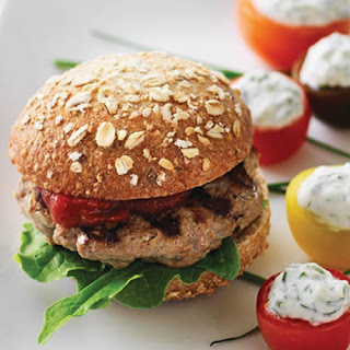 Healthy Turkey Sliders with Homemade Ketchup.