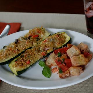 Quinoa-Stuffed Zucchini Boats.
