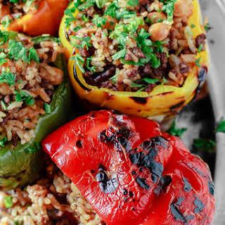 Mediterranean Style Stuffed Peppers.
