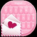 Keyboard Pink Hearts icon
