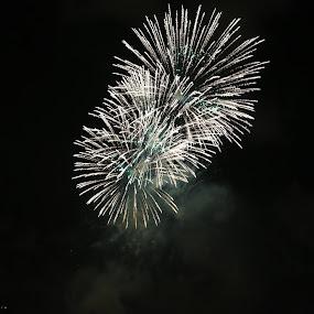 Fireworks by Manoj Ojha - Abstract Fire & Fireworks ( pwcbwlandscaps; buhaira, water festival; 2012; fireworks; uae, sharjah )