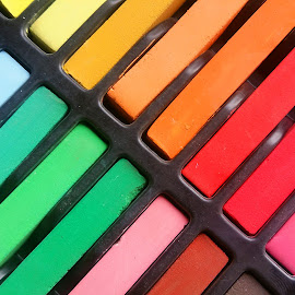 Colored pastels by Ruxandra Proksch - Abstract Patterns ( abstract, pastels, pastel, pattern, color, colors, rainbow )