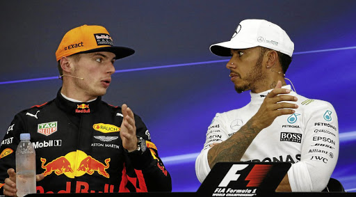 Two bulls in a kraal: Lewis Hamilton, right, and Max Verstappen will compete in two more races this season. Picture: REUTERS