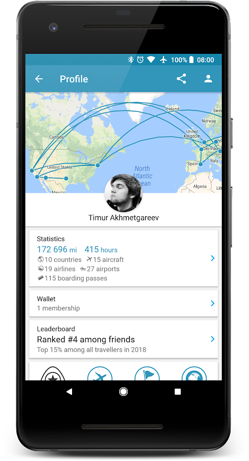 App In The Air Travel Planner Amp Flight Tracker Android Apps On Google Play