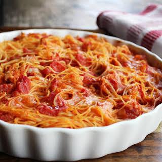 Chicken Spaghetti Pie.