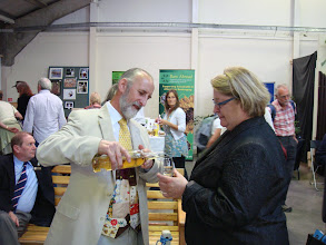 Photo: Fellow and celebrity chef Rosemory Shrager enjoying a tipple