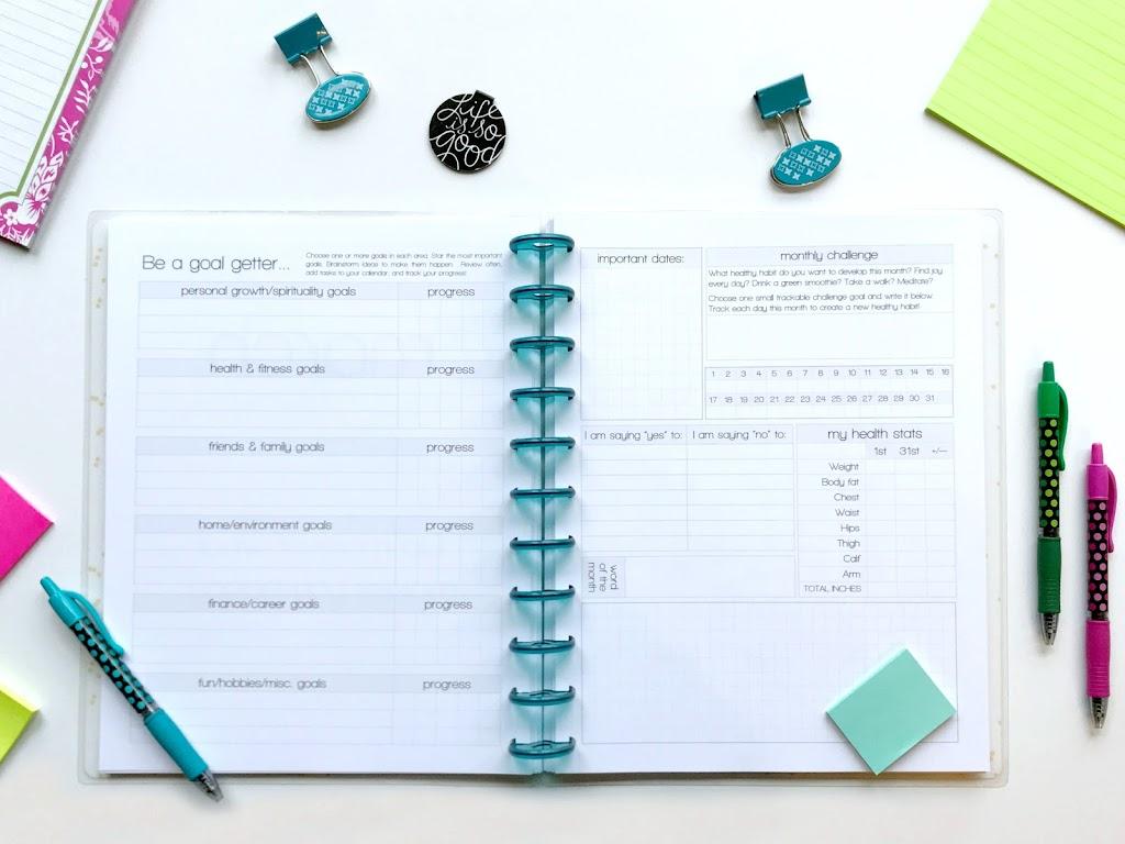 goal setting 2018 planner