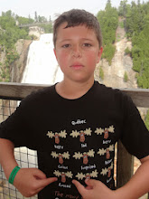 Photo: Gregory got this funny t-shirt in Quebec which he's using to show his reaction to the falls