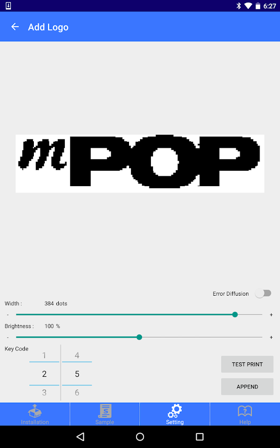 mPOP Utility- screenshot