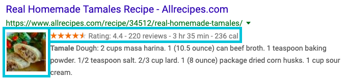 recipe rich snippet example