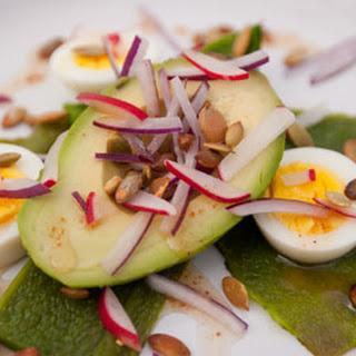 Spicy Avocado-Poblano Salad with Boiled Eggs