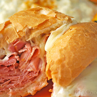 Baked Hot Ham 'n Cheese Sandwiches.