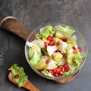Pear And Pomegranate Salad.