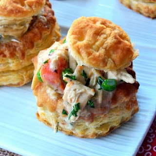Chicken Pot Pies in Puff Pastry Shells Recipe
