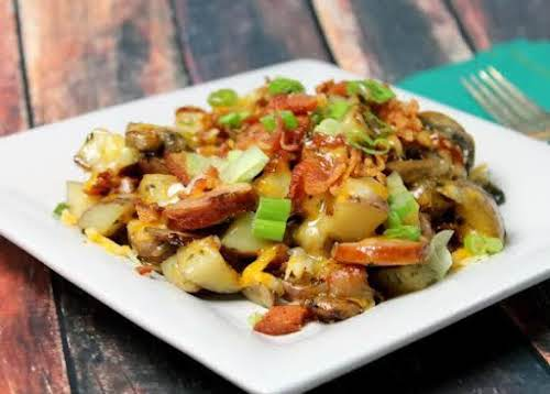 """Loaded Fried Potatoes""""This is great for breakfast, brunch or dinner! Add and..."""