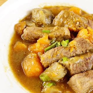 Crock Pot Sweet Potato and Apple Beef Stew