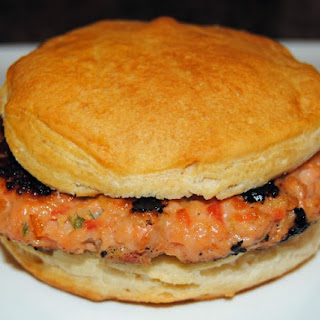 Sweet and Smokey Salmon on Biscuits