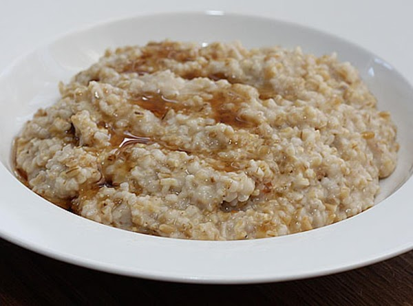 When the oats are done to your liking, stir in the vanilla extract and...