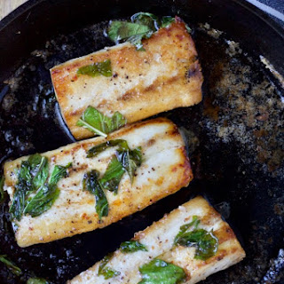 Pan-Seared Fish with Lime & Basil..