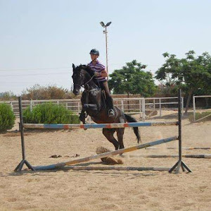 Expat Woman show jumping in Cairo