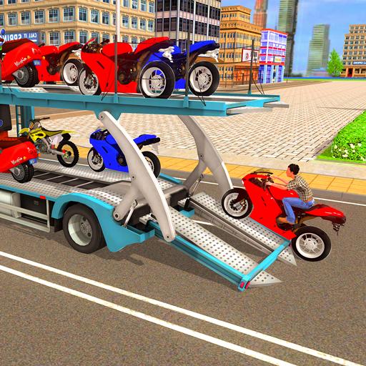 Motorcycle Transport Truck: Bike Transporter Sim