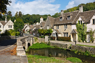 Photo: Here's a photo of the picturesque town of Castle Combe for #HistoryThursday.  The site was originally a Roman hill fort which was later built up into a castle by the Normans. Very little of the original castle (actually located above the village) remains today. By the 14th century the village became an important market town for the wool trade and the original market cross is still a prominent landmark in the village centre. These days Castle Combe is a popular tourist destination and has featured in several films.