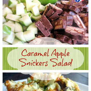 Caramel Apple Snickers Salad.