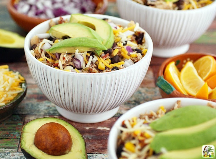 Crock-Pot Mexican Shredded Chicken with Black Beans & Corn