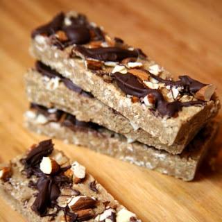 Vegan Chocolate Almond Protein Bars.