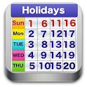 World Holiday Calendar 2016 icon