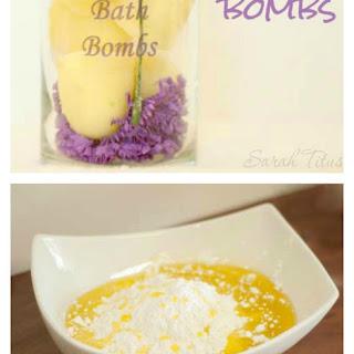 DIY Bath Fizzy Bombs.