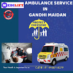 Advanced Life Support Ambulance Service in Gandhi Maidan by Medilift
