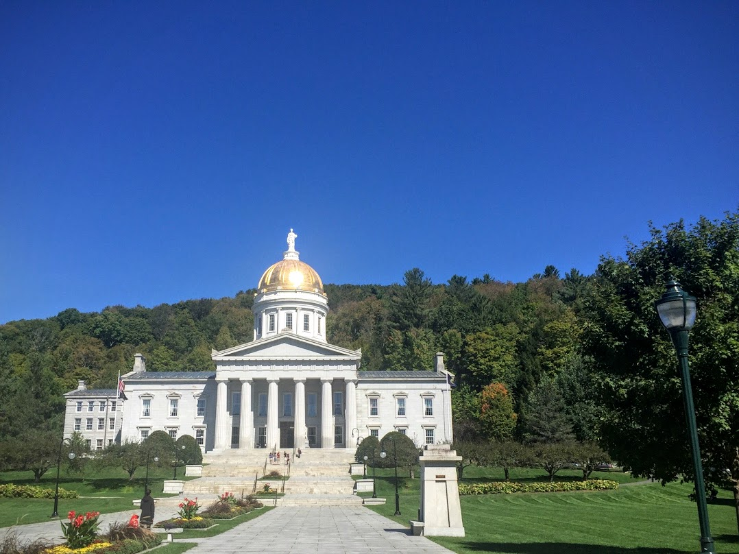 Onto the state house in Montpelier...the VT state capitol. It is the only state capitol in the nation without a McDonalds! It is a small town, and a really neat place that we want to see some more of at some time.