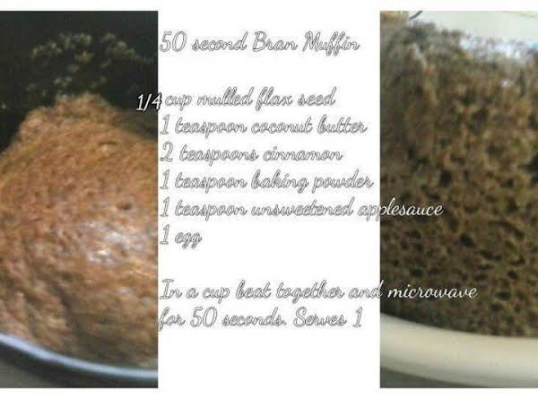 Single Serve Flax Seed Muffin Recipe