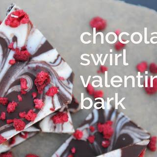 Chocolate Swirl Valentine Bark