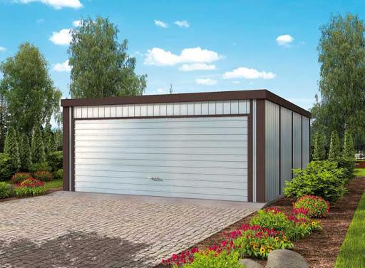 projekt GB51 Garaż Blaszany Dwustanowiskowy