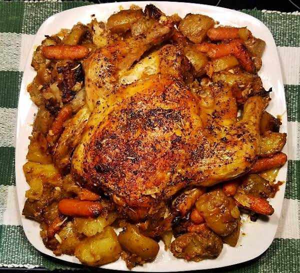 Olive Oil Herb Roasted Chicken And Veggies