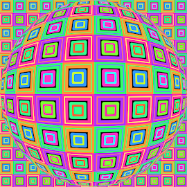 PATTERN OP ART 2 by Cassy 67 - Illustration Abstract & Patterns ( digital, love, op art, harmony, abstract art, trippy, pattern, retro, abstract, creative, digital art, psychedelic, modern, light, style, energy, fashion )