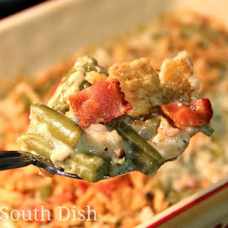 Green Bean Casserole with Homemade Cream Sauce