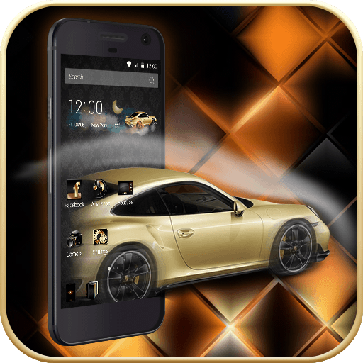 Gold Luxury Car Launcher