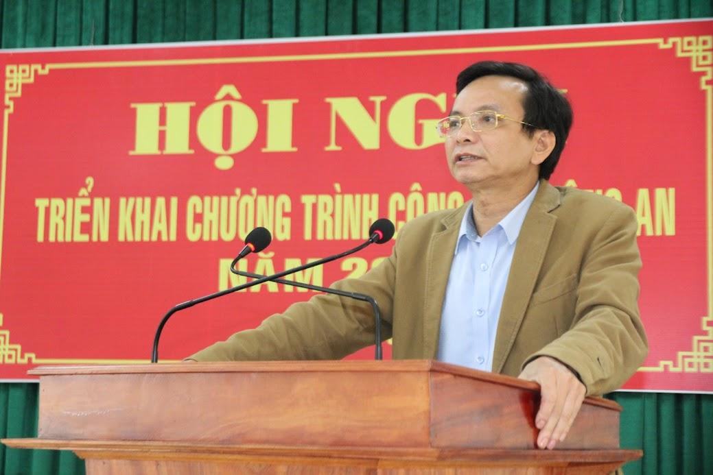 Đồng chí Hoàng Danh Lai, Bí thư Huyện ủy Quỳnh Lưu ghi nhận, đánh giá cao những thành tích, chiến công mà đơn vị đạt được trong năm 2019