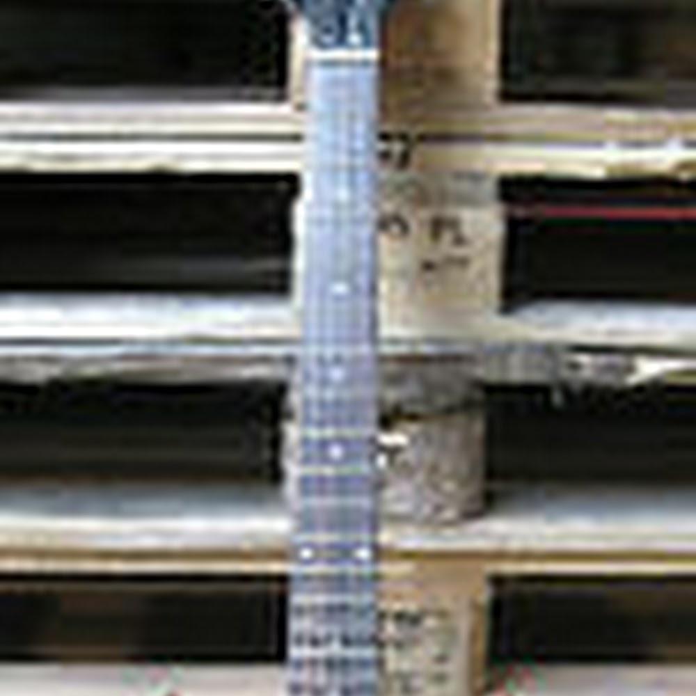 Chitarra elettrica stile Diavoletto Ac Dc Rossa