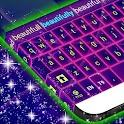 键盘皮肤紫色霓虹灯 icon